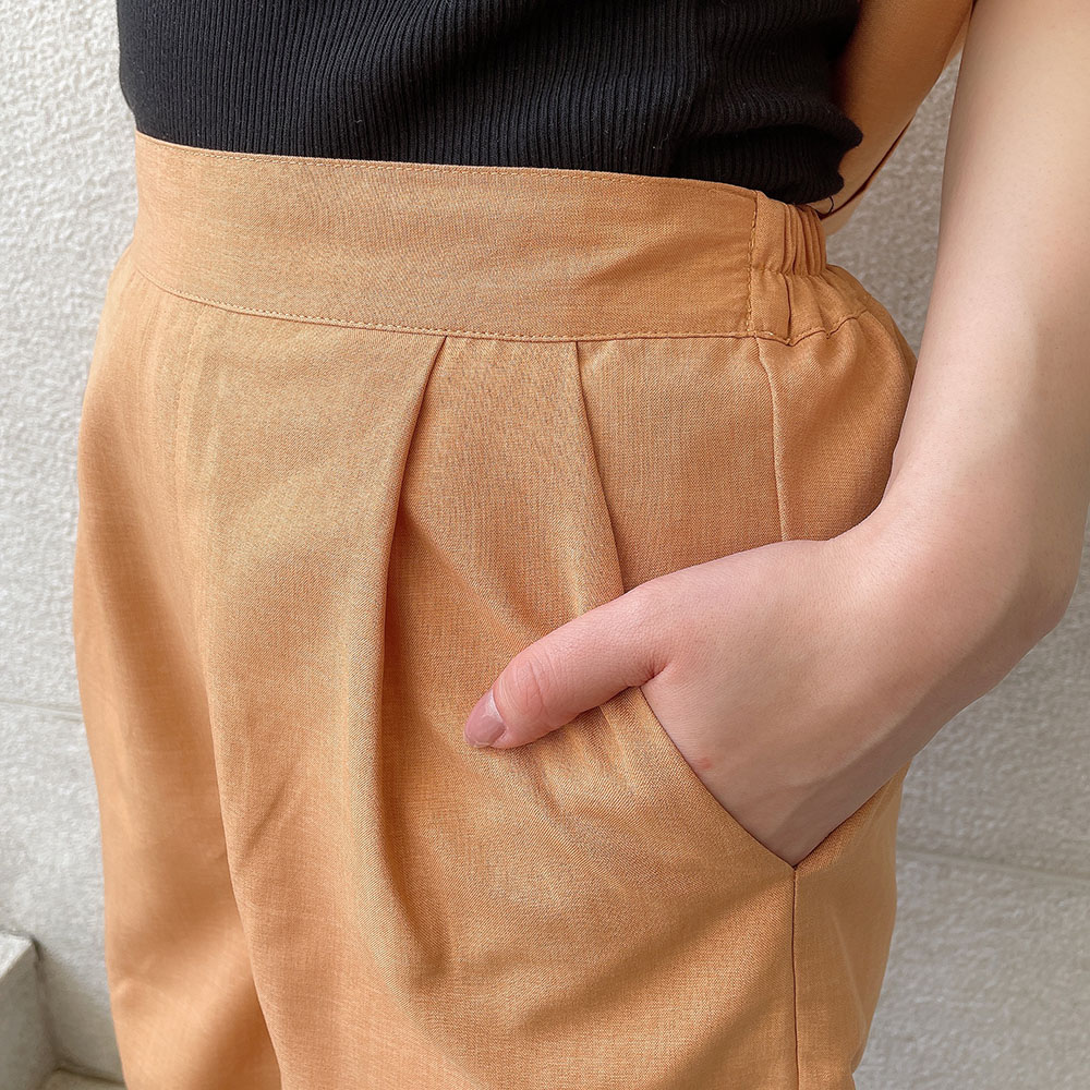 【5/20再入荷】リネンライクショートパンツ