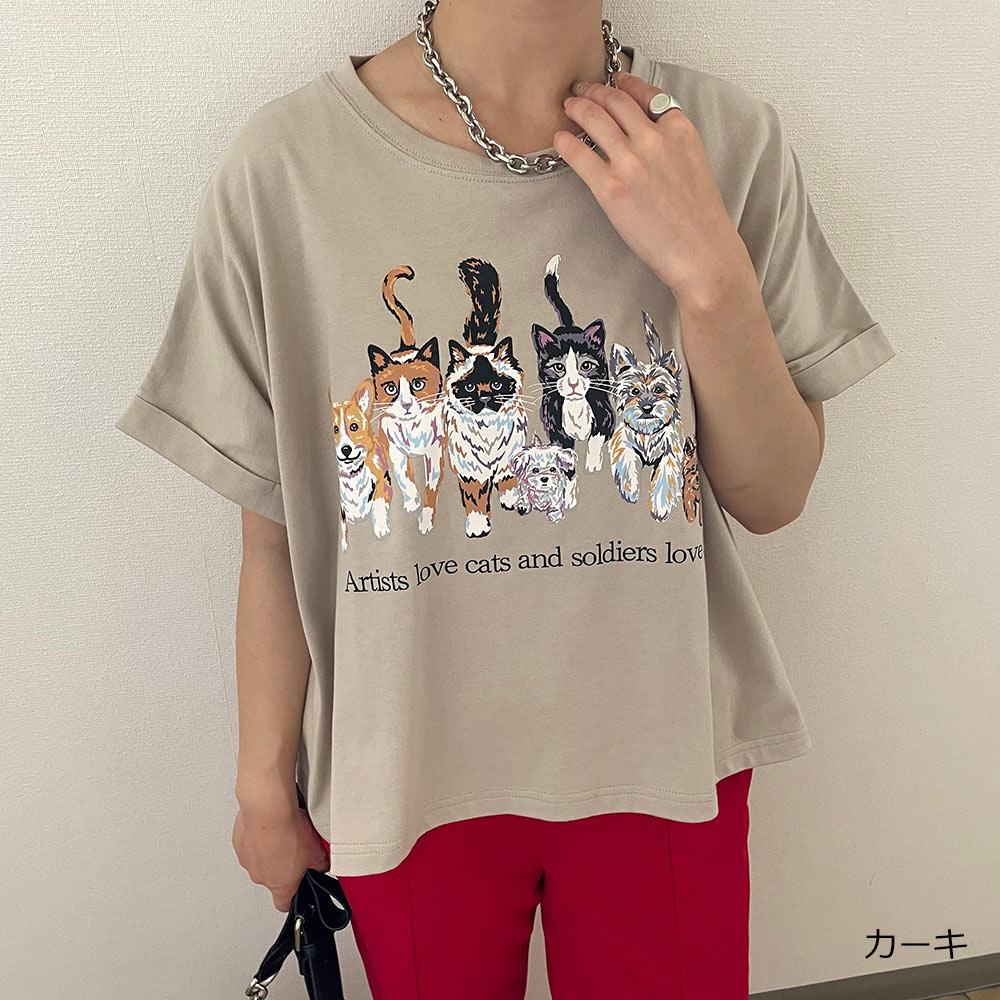 犬猫ショートTシャツ