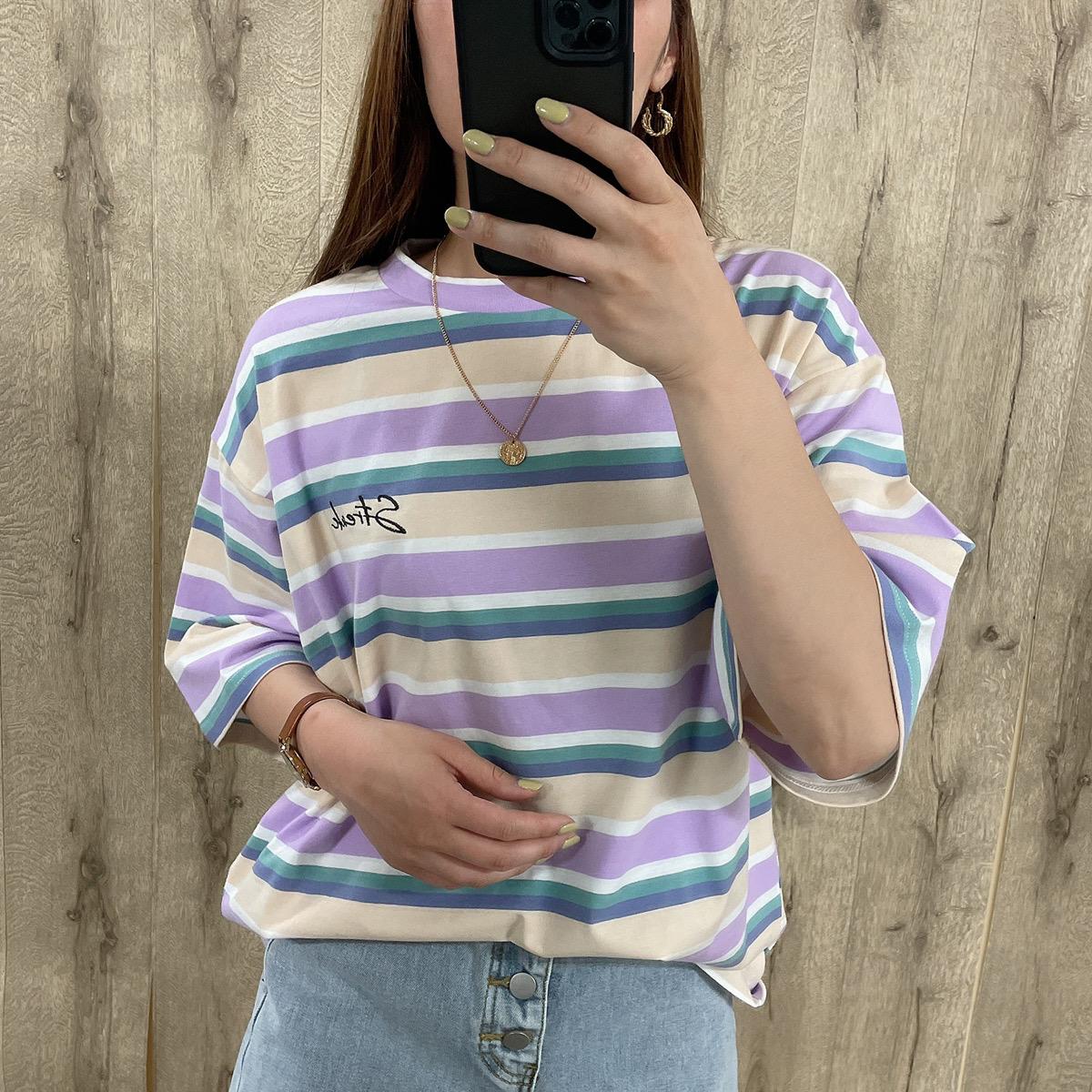 ボーダーBIGTシャツ