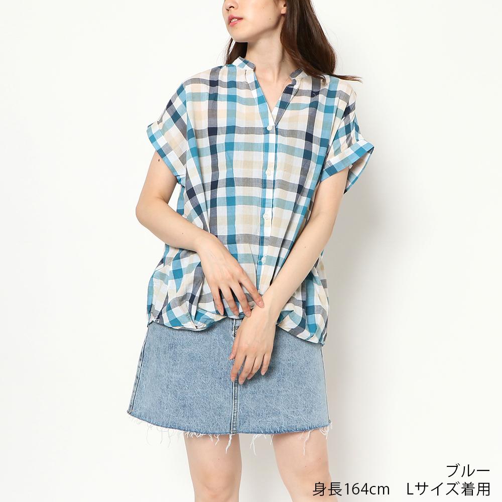 【8/30再入荷】レースUPタケノコチェックシャツ