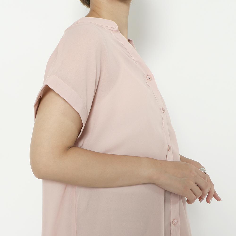 【8/30再入荷】バックレースアップ抜き襟シャツ