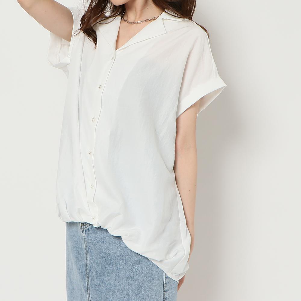 タケノコタック開襟シャツ