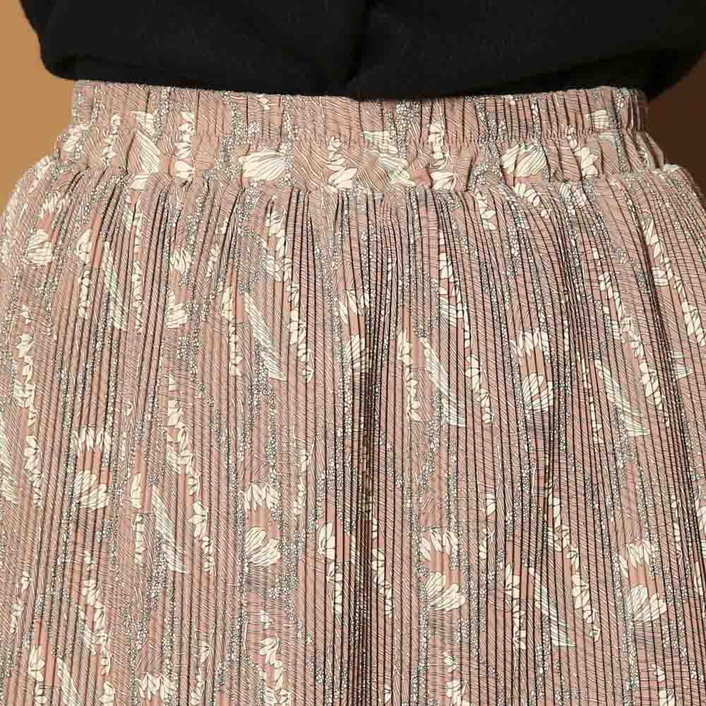 マジョリカ柄プリーツスカート