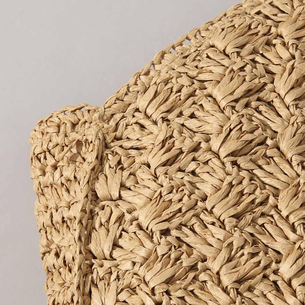 雑材編みバッグ