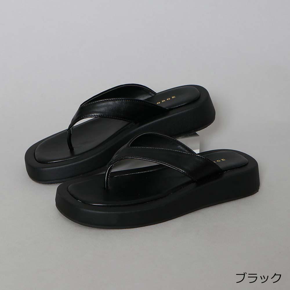 【8/20再入荷】厚底トングサンダル