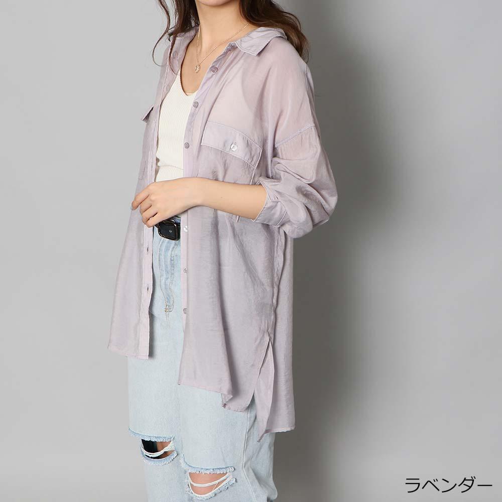 【7/9再入荷】シアーシャツ