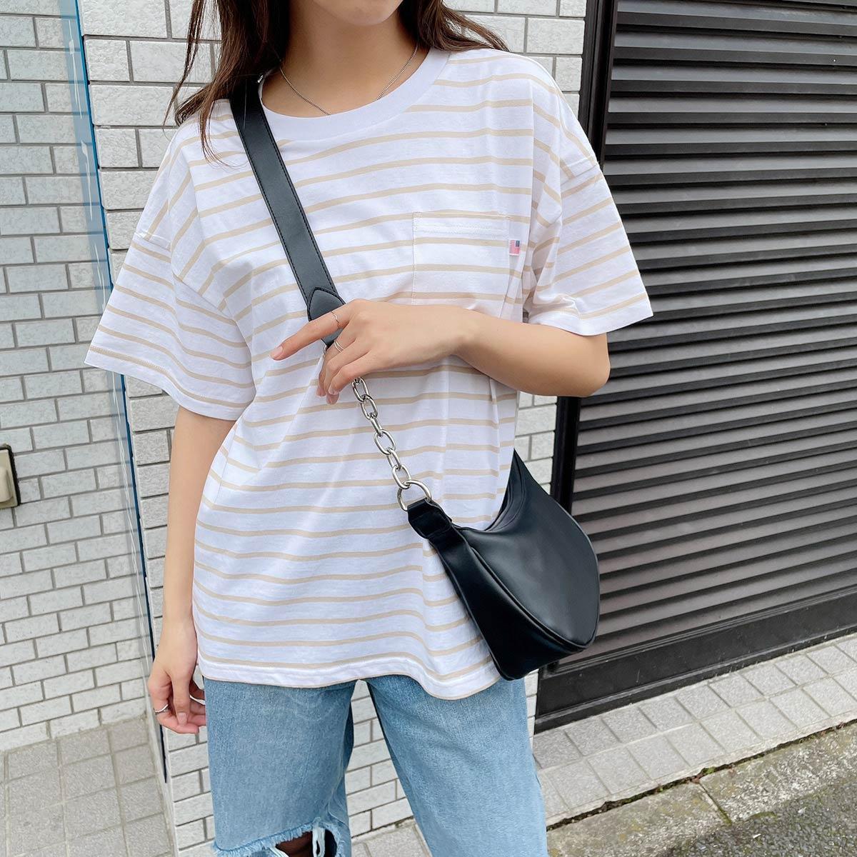 【7/29再入荷】USAコットンUネックTシャツ