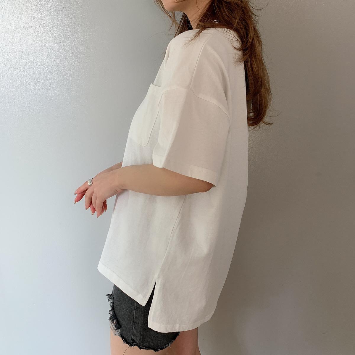 【3/29再入荷】USAコットンUネックTシャツ