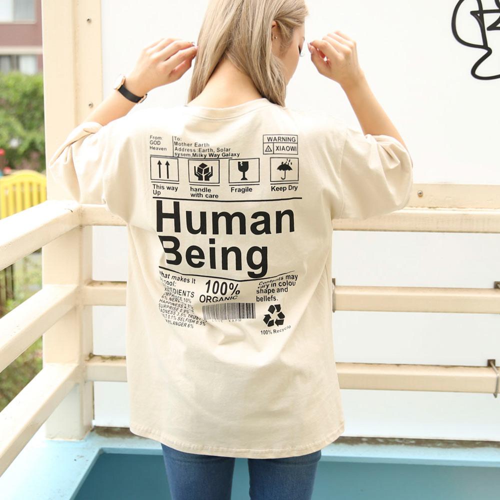 【再入荷】【ネコポス送料無料】HumanビッグTシャツ