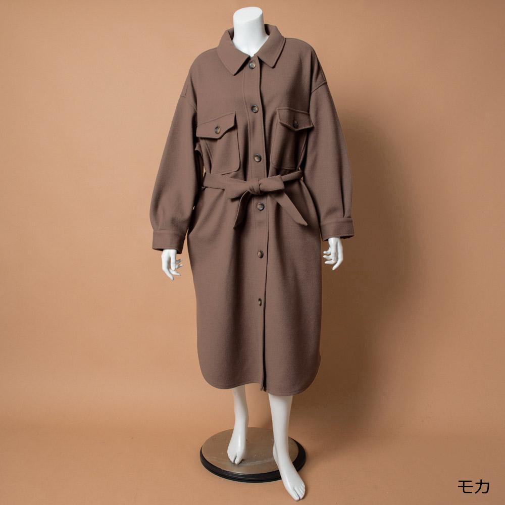 【NEW】サイドスリットロングシャツコート