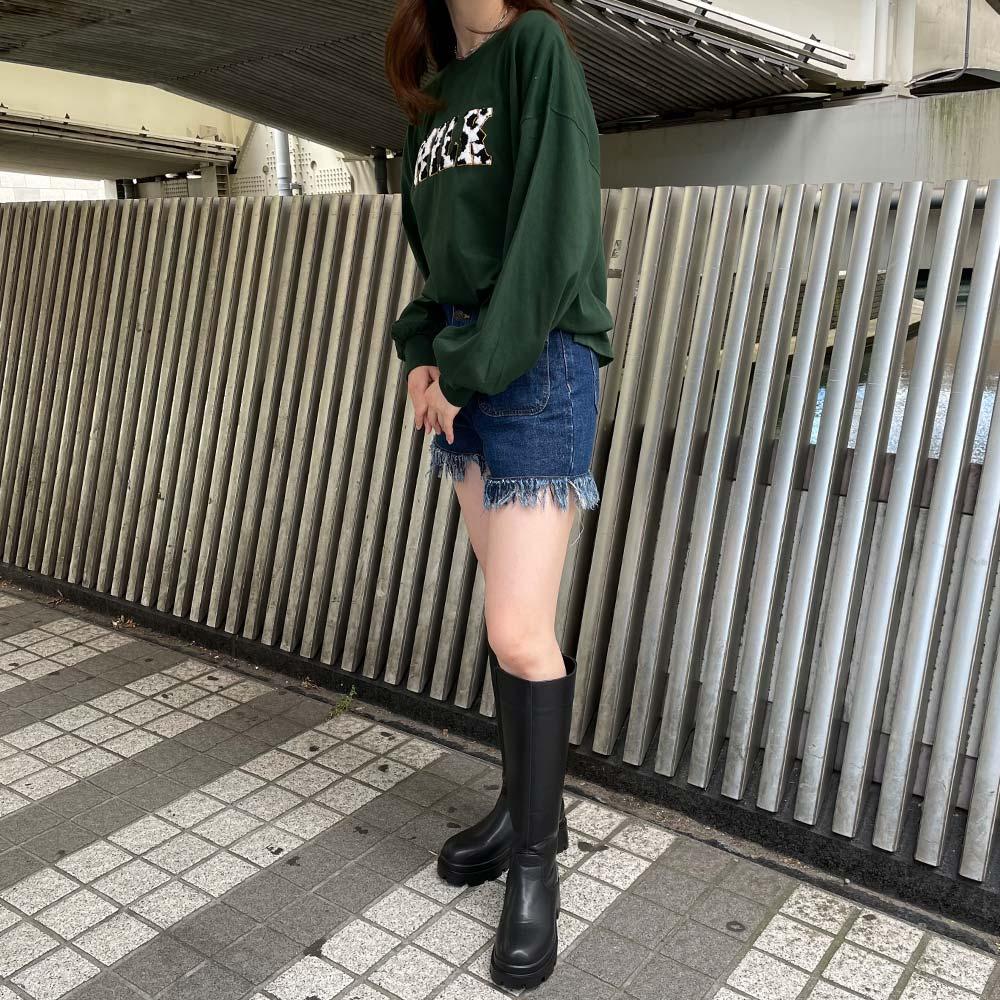 【9/9再入荷】牛柄サガラロンT