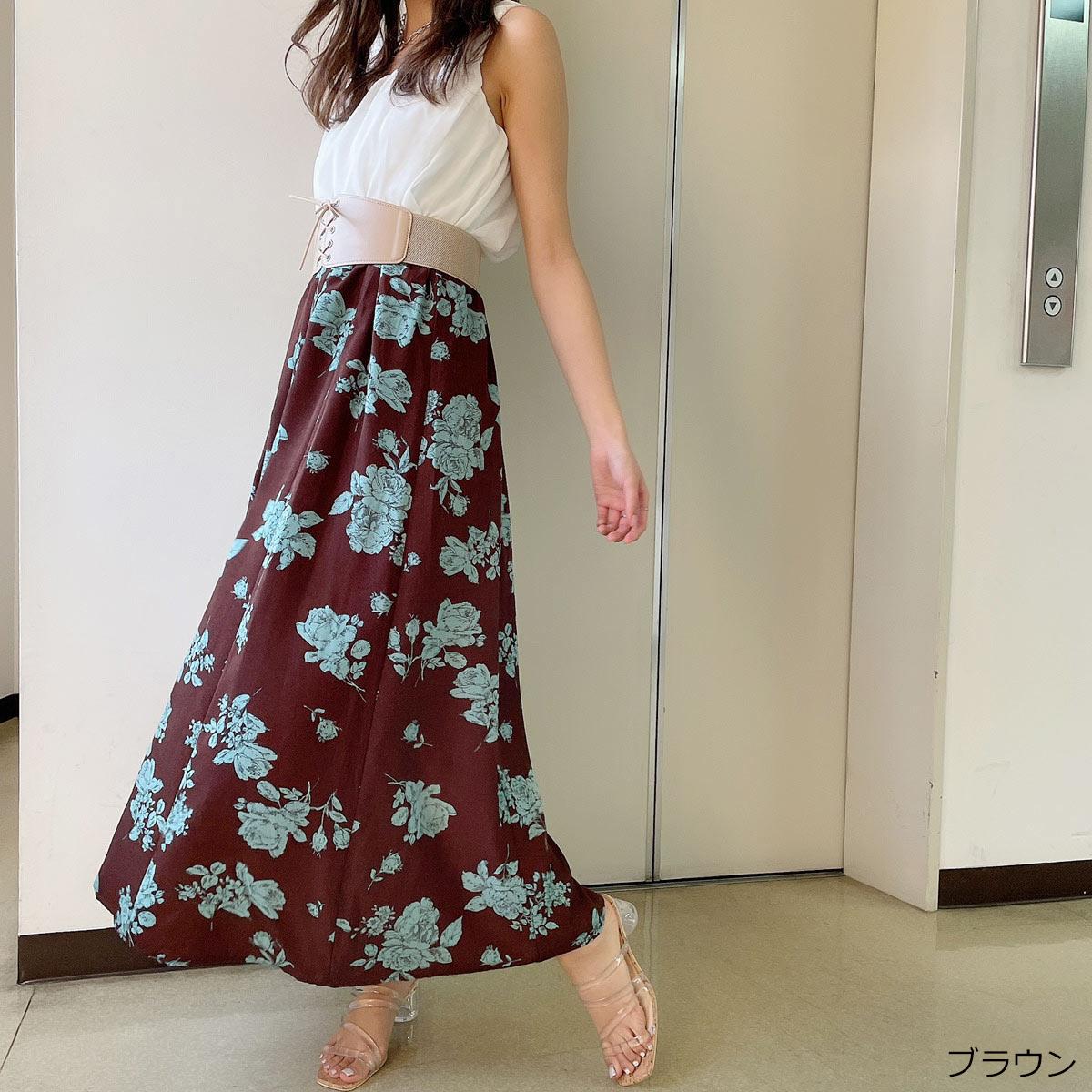 【7/20再入荷】ベルト付きドッキングワンピース