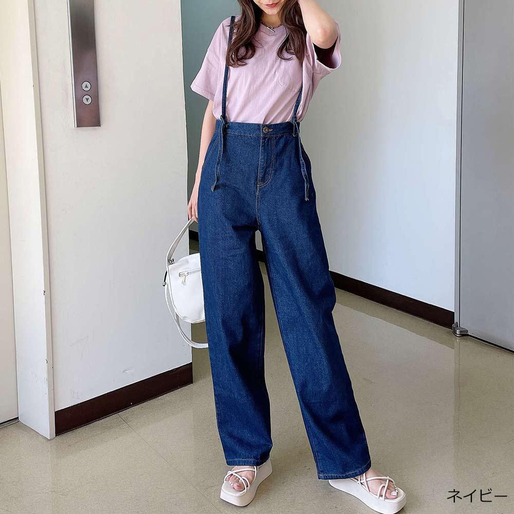 【6/10再入荷】バックレースアップサロペット