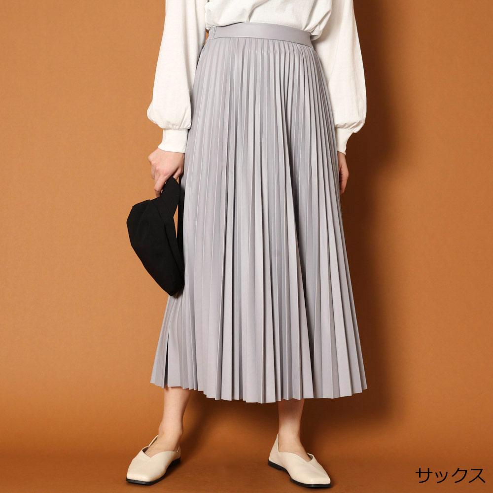 薄エコレザープリーツスカート