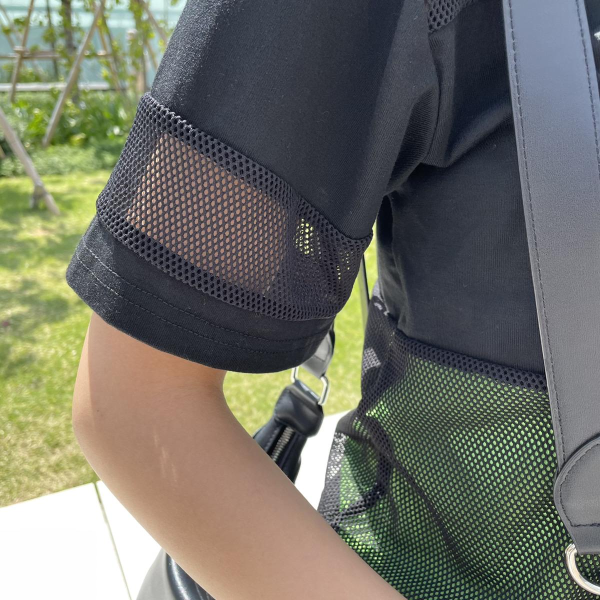 【ネコポス送料無料】インナー付きメッシュTシャツ