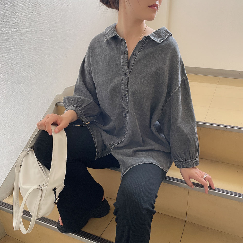 【7/16再入荷】前後2WAYデニムシャツ