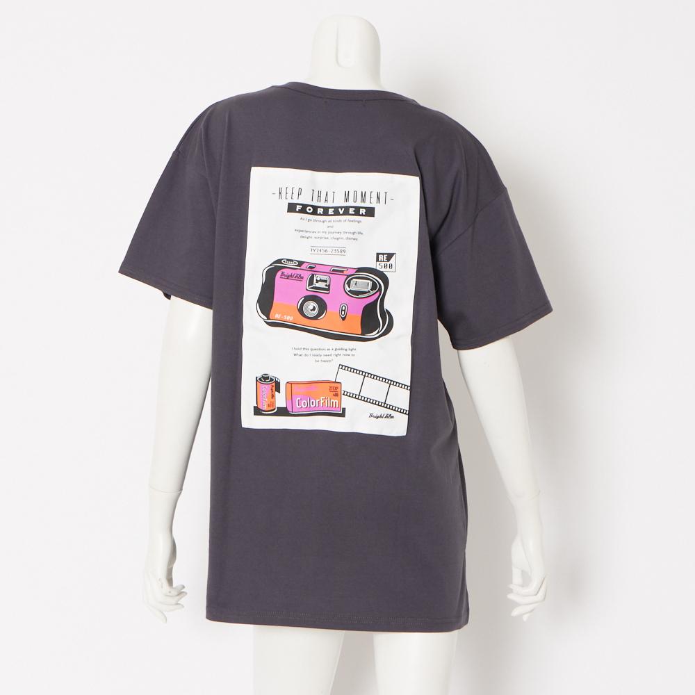 カメラ貼り付け5分袖Tシャツ