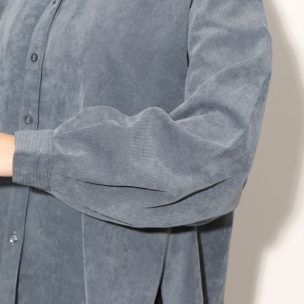 コーデュロイバックリボンシャツ