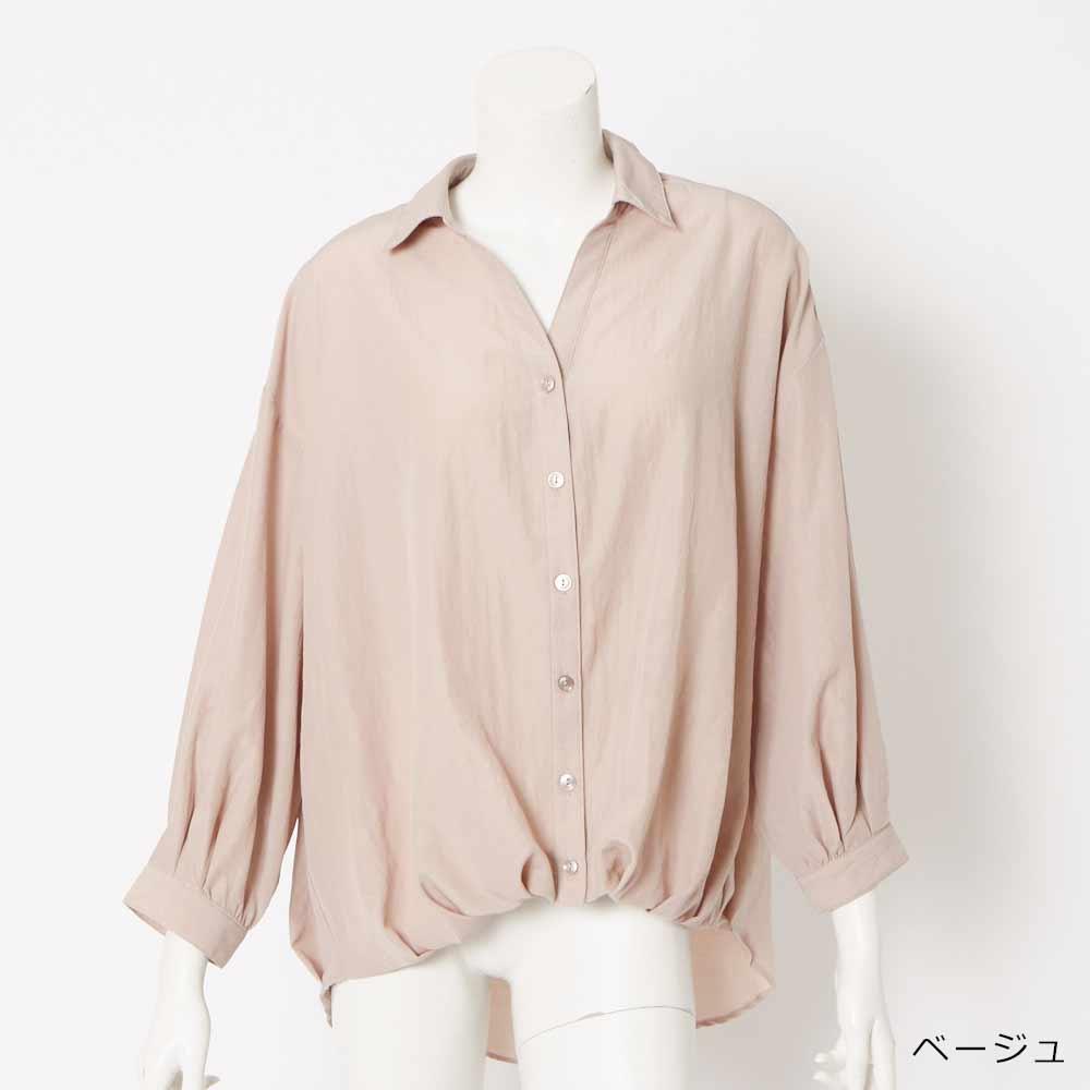 【予約】【ネコポス送料無料】レースアップボリュームシャツ