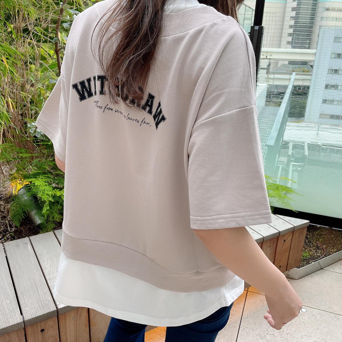 【6/23再入荷】バックptレイヤードプルオーバー