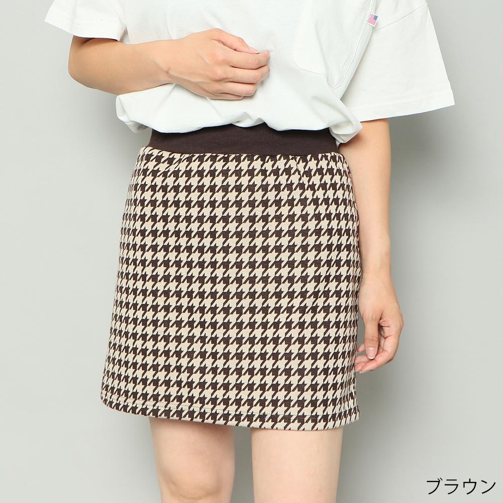 柄ミニスカート