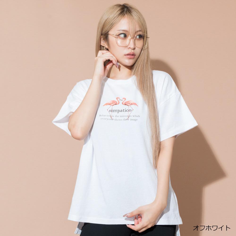 【ネコポス送料無料】フラミンゴTシャツ