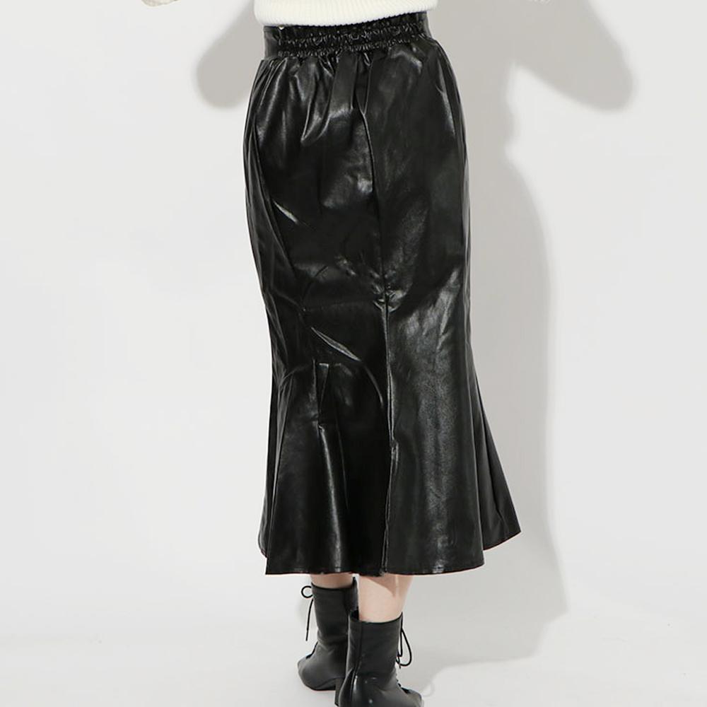 合皮マーメイドスカート