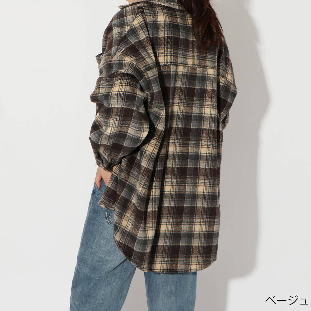 起毛BIGチェックシャツ