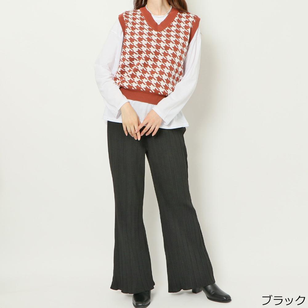 【10/1新色入荷】スエードライクプリーツパンツ