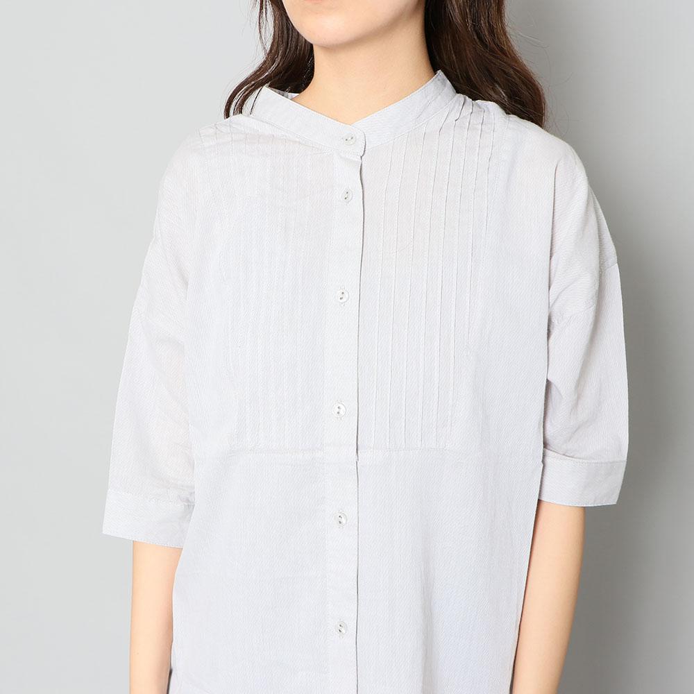 ピンタックバンドカラーシャツ