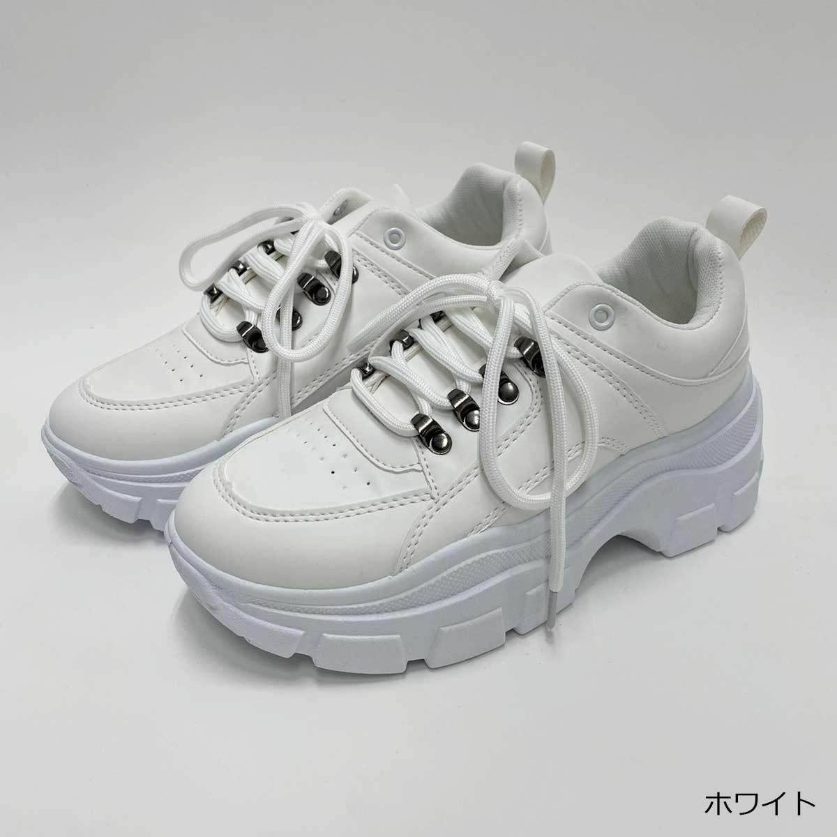 【3/22再入荷】金具付き厚底スニーカー