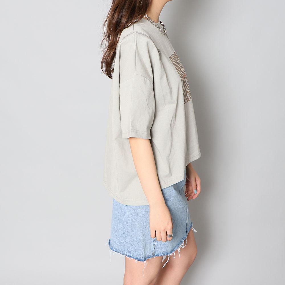 肩ZIPシャツ