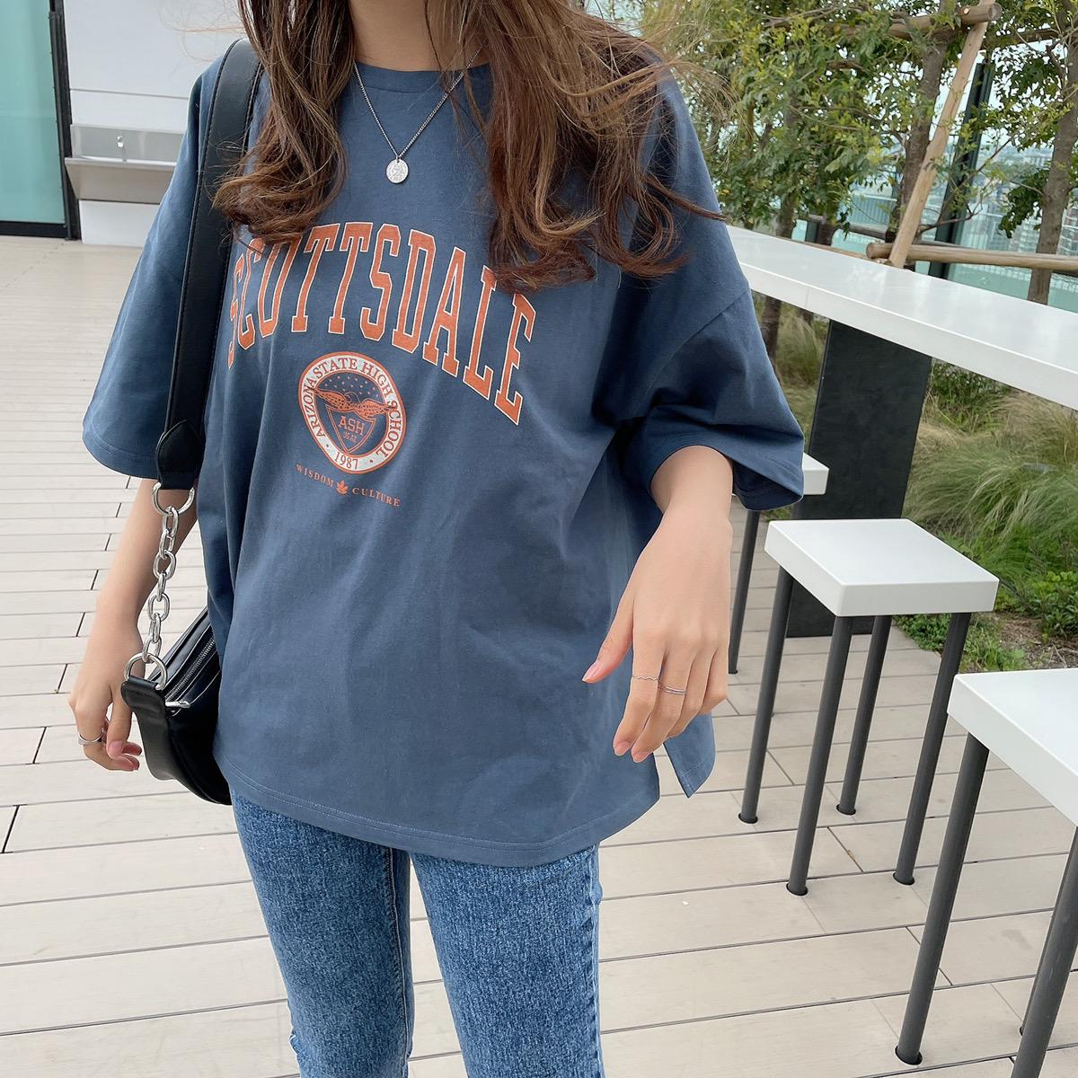 【4/27再入荷】カレッジプリントBIGTシャツ