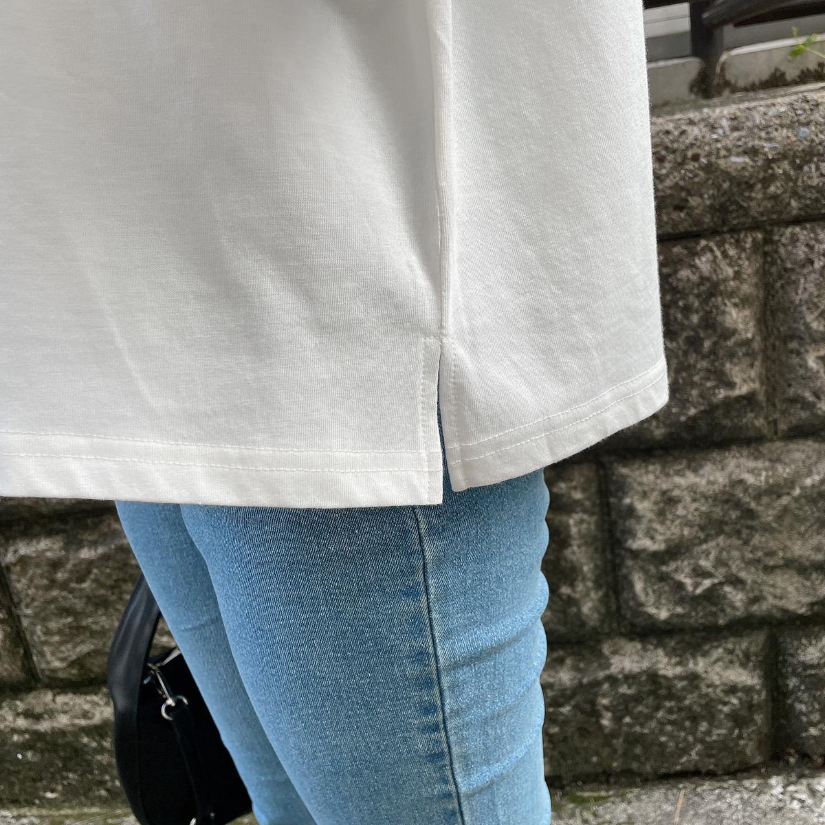 【ネコポス送料無料】Musicプリント短丈Tシャツ