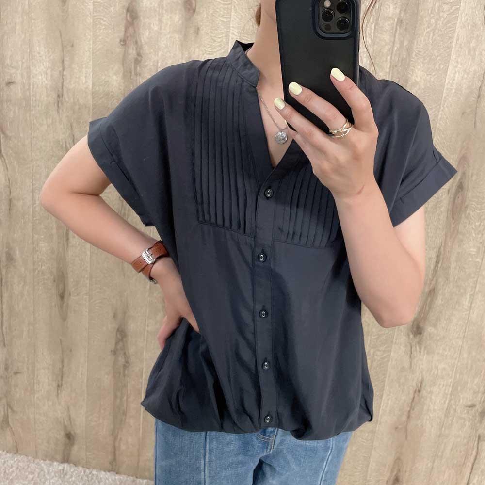 フレンチピンタックシャツ