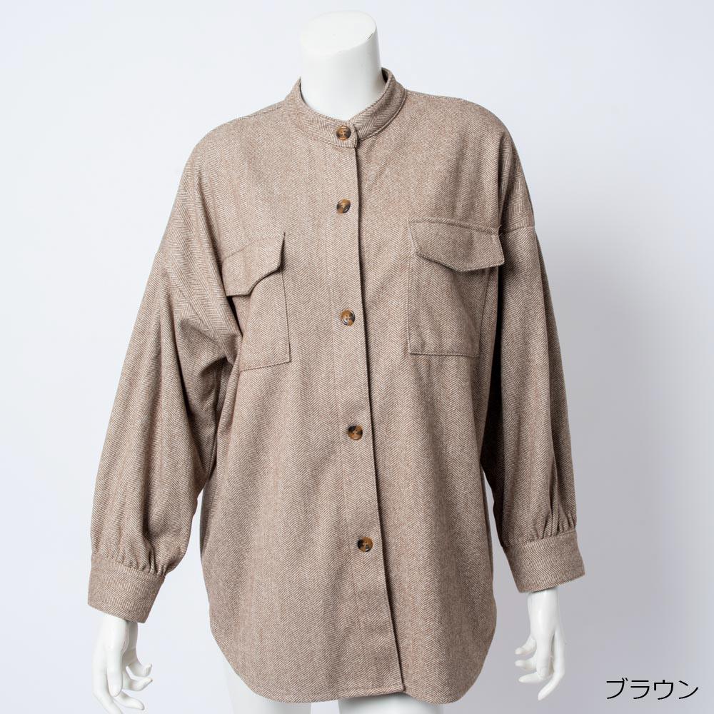 ヘリンボーンニットツイルジャケット