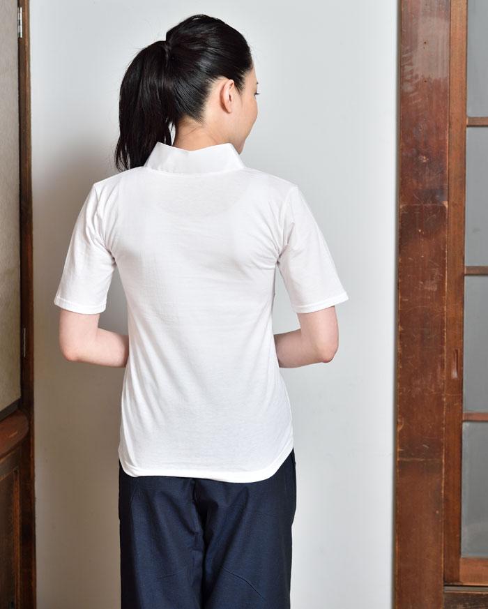 婦人衿付Tシャツ半襦袢(合衿)(M-LL)