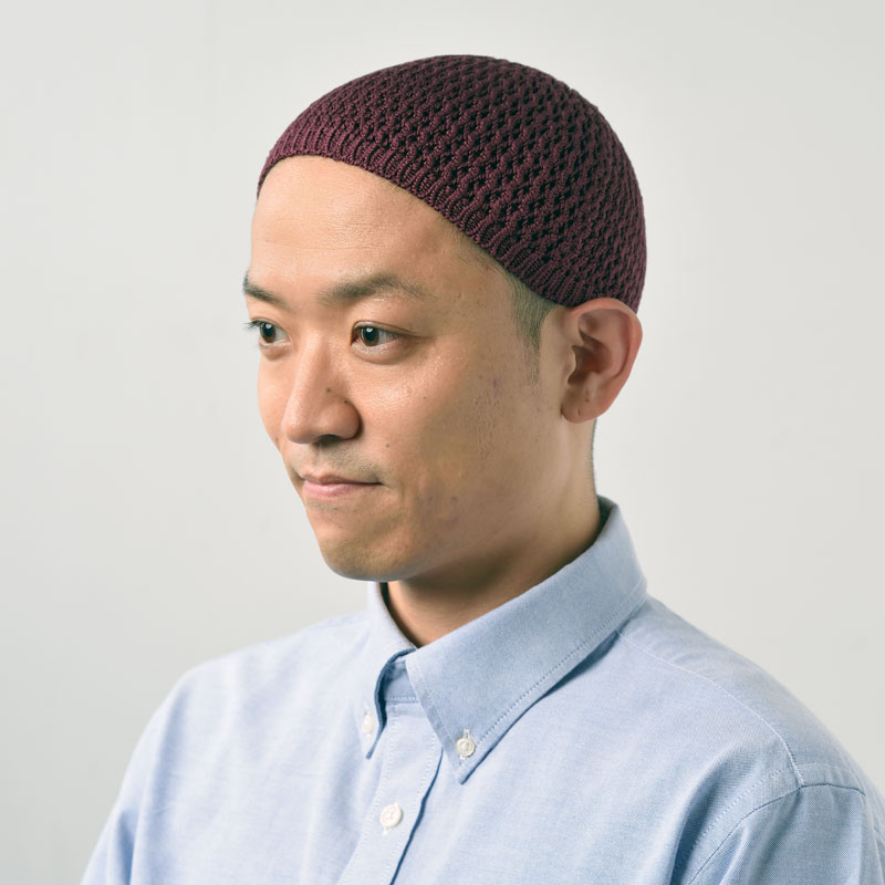 上質なシルクのストレッチ帽(ブラック・グレー・ベージュ・ワイン)(M-L)