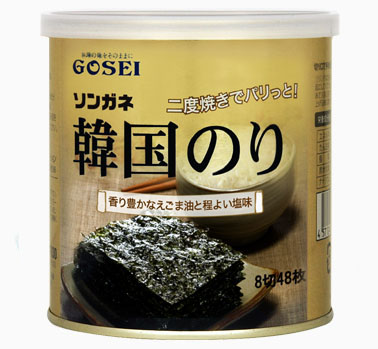 【30%OFF:キズ・へこみあり】賞味期限 2021年12月03日までソンガネ韓国のり(缶)