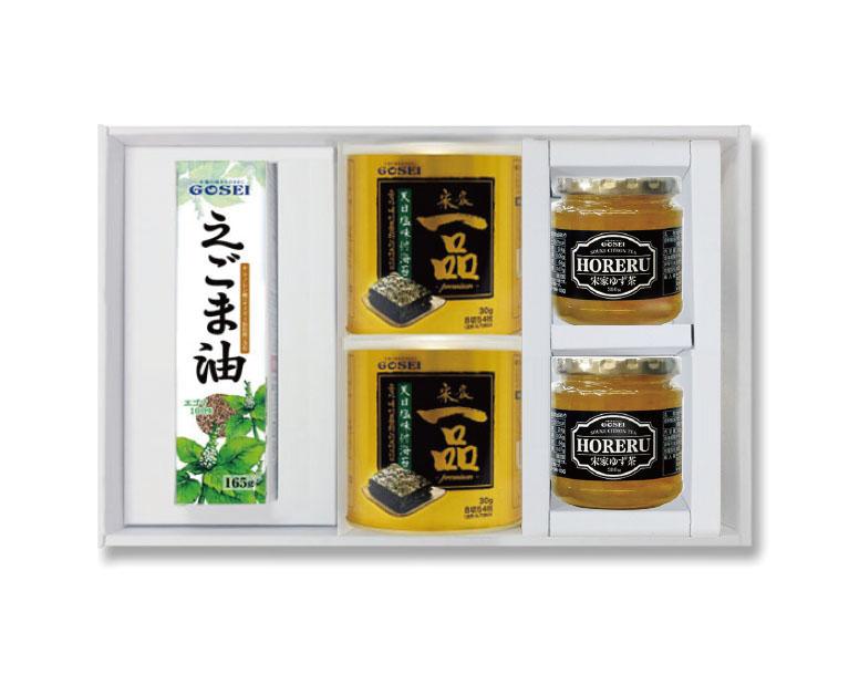 宋家ギフト-柚子茶(300g×2個)+宋家一品のり(2缶)+えごま油(1個)セット