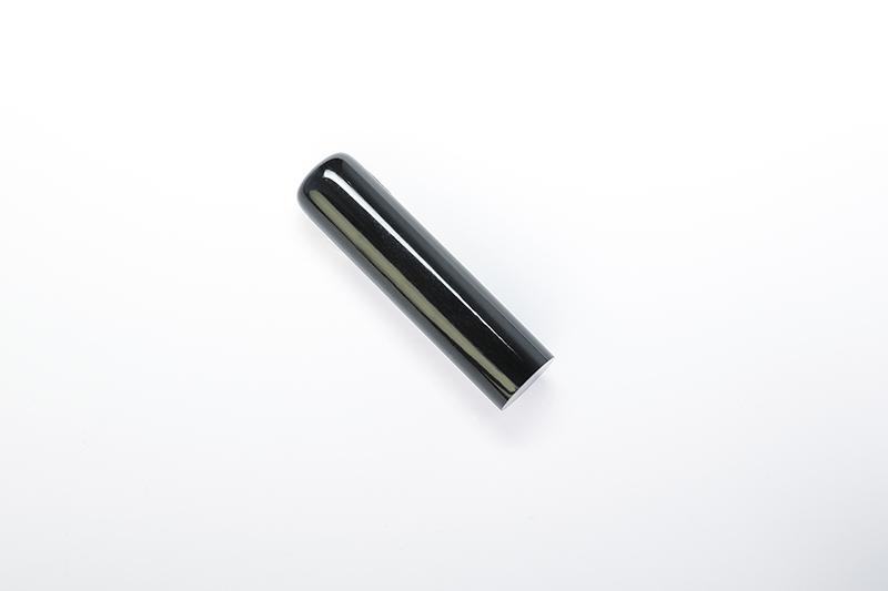 吉運手彫り印鑑(法人用印鑑)<エクセレント> 【真黒水牛:角印21.0mm】