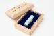 吉運手彫り印鑑(良き日の御祝印鑑/お子様記念印鑑) 【黒水牛:銀行印13.5mm丸 桐箱】