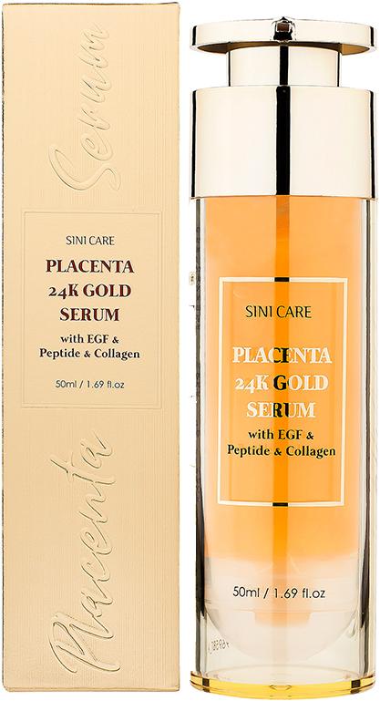 [SiniCare Placenta Gold Serum] シニケア プラセンタ ゴールドセラム with EGF and Collagen