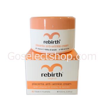 [Lanopearl]Rebirth Placenta Anti-Wrinkle Cream with vitaminE 1000iu & lanolin [ラノパール] リバース プラセンタ アンチリンクル クリーム