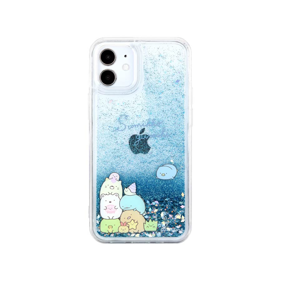 すみっコぐらし iPhone12 mini対応 グリッターケース