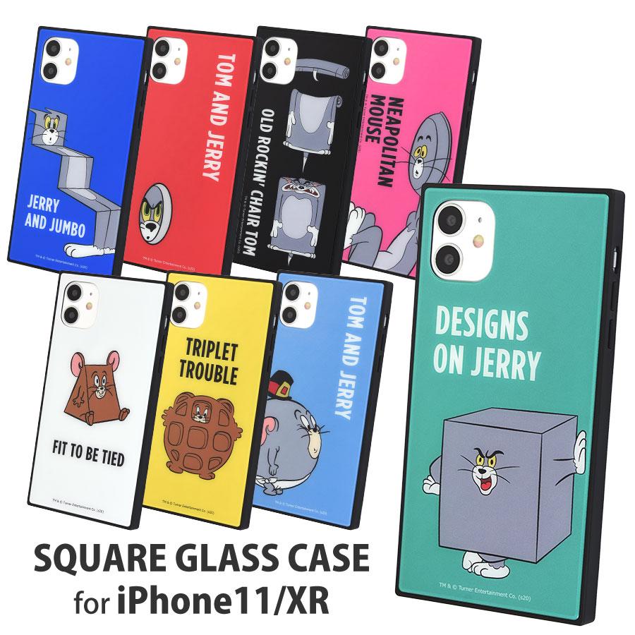トムとジェリー【FUNNY ART series】 iPhone11/XR対応スクエアガラスケース