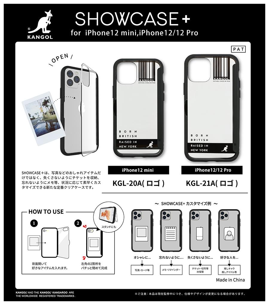 KANGOL/SHOWCASE+ iPhone12 mini対応ケース
