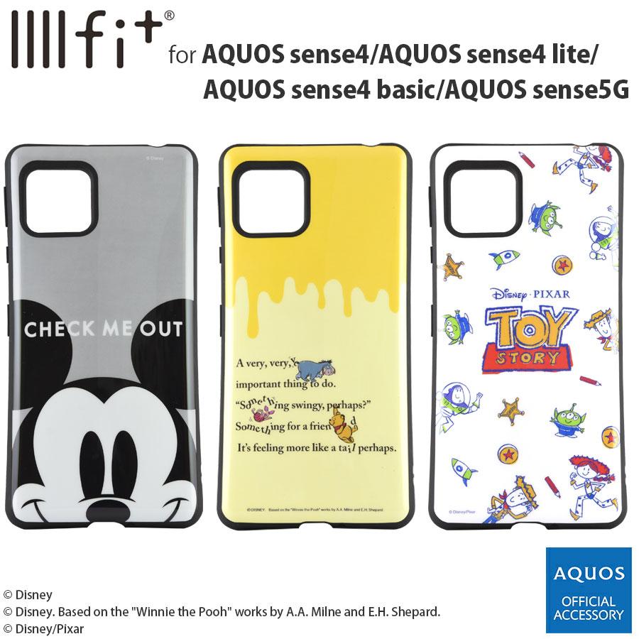 ディズニーキャラクター、ピクサーキャラクター/IIIIfit AQUOS sense4/AQUOS sense4 lite/AQUOS sense4 basic/AQUOS sense5G対応ケース