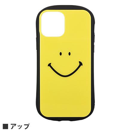 スマイリー・フェイス/iPhone12/12 Pro対応 ハイブリッドガラスケース