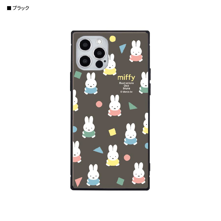 ミッフィー オータムカラー iPhone12/12 Pro対応 スクエアガラスケース